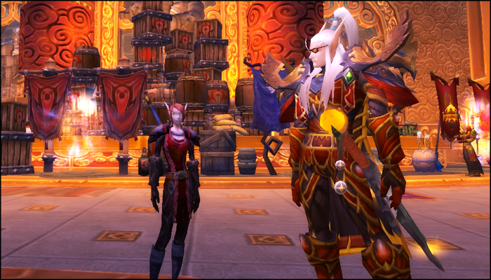 Lorthemar and tabby in shrine