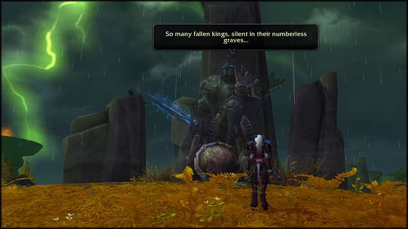 Memory of Arthas in Stormheim